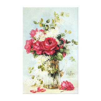 Vintage Roses Fresh from the Garden Gallery Wrap Canvas