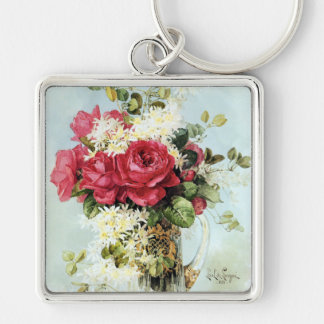 Vintage Roses Fresh from the Garden Keychain