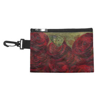 Vintage Roses Green Oil Painting Accessories Bags
