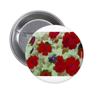 Vintage Roses Hips Pinback Buttons