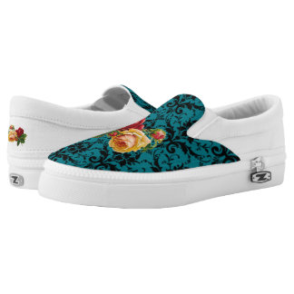 Vintage Roses & Lace Printed Shoes
