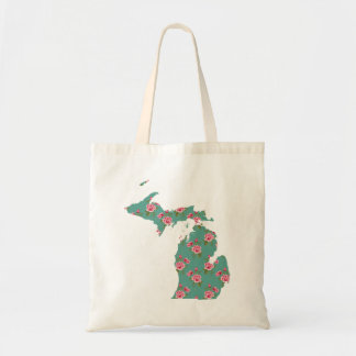 Vintage Roses | Michigan Silhouette Tote Bag