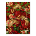 Vintage Roses of Faith Postcard