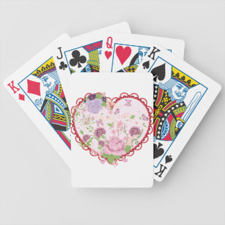 Vintage Roses Ornament and Heart 2 Bicycle Playing Cards