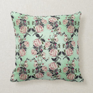 Vintage Roses Pattern Cushion