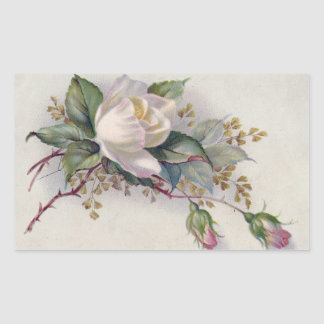 Vintage Roses Rectangular Sticker