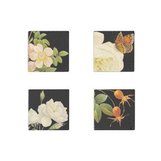 Vintage Roses set 2 Stone Magnet