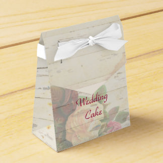 Vintage roses shabby chic custom wedding favour box