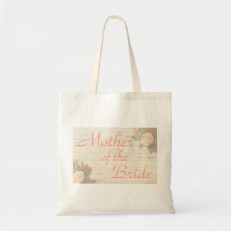 Vintage roses shabby chic mother of the bride tote bag