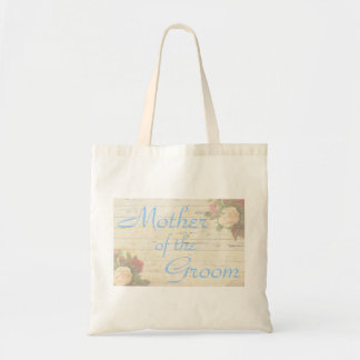 Vintage roses shabby chic mother of the groom tote bag