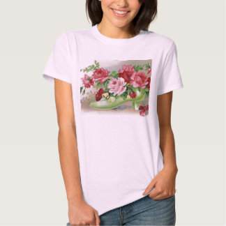 Vintage Roses Shoe T-shirt