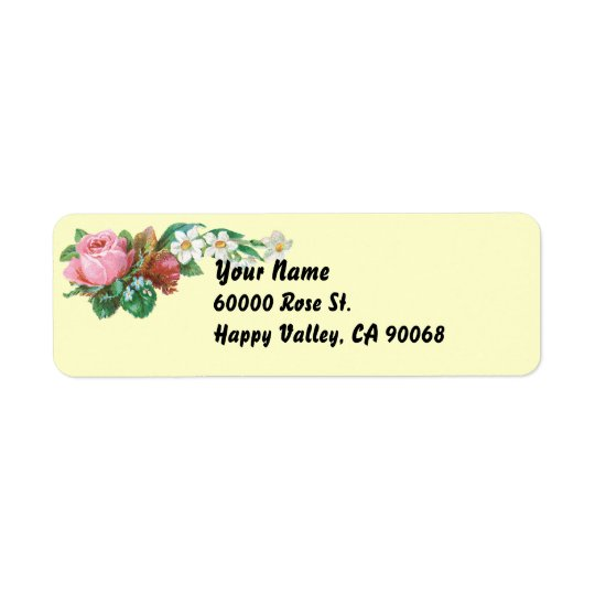 Vintage Roses Simple Return Address Labels