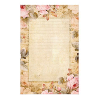 Vintage Roses Stationary Customized Stationery