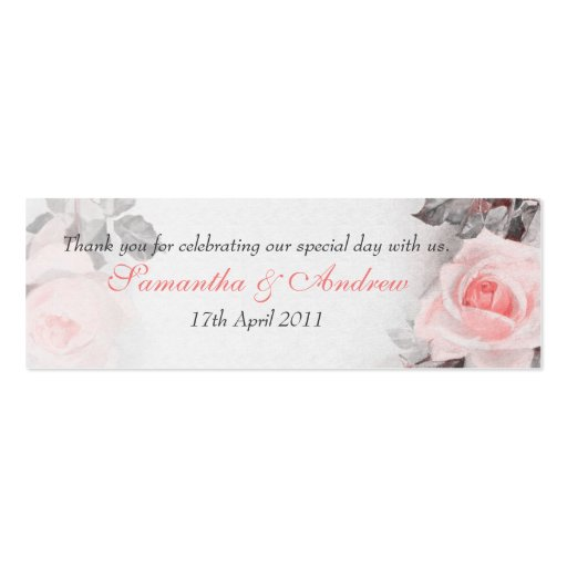 Vintage Roses Wedding Favour Tags Business Cards