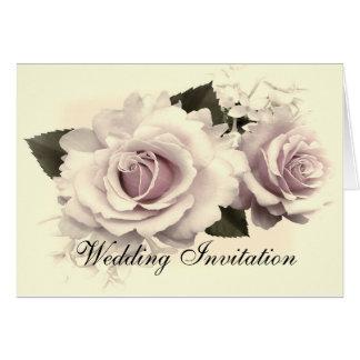VINTAGE ROSES WEDDING INVITATION CARD