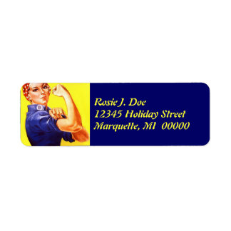 Vintage Rosie The Riveter Return address Label