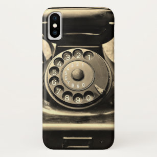 Vintage rotary phone on phone case