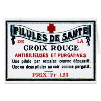 Vintage Rouge Label Card