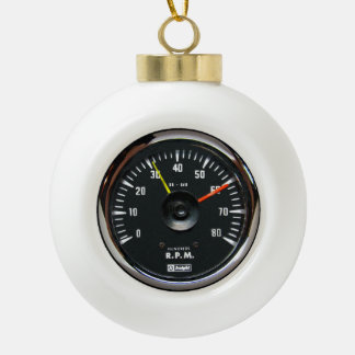 Vintage Round Analog Auto Tachometer Ceramic Ball Decoration