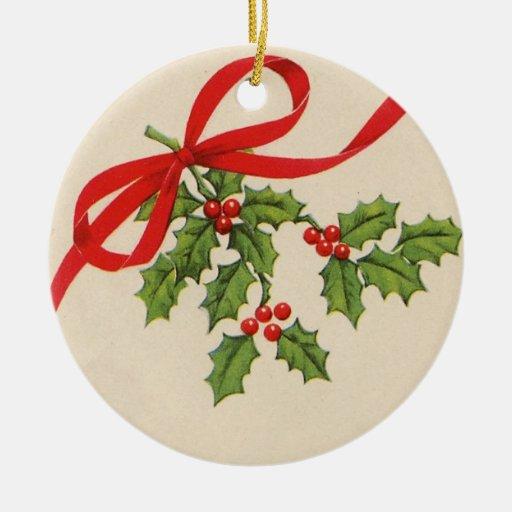 vintage round christmas ornament