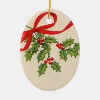 vintage round christmas oval ornament