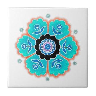 Vintage Round Flower Pattern Tiles