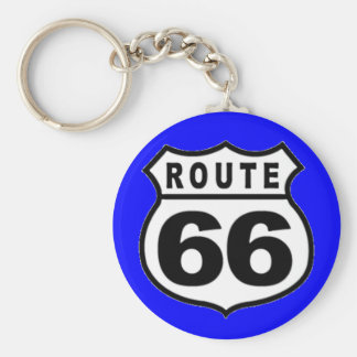 VINTAGE ROUTE 66 AMERICANA FATHER'S DAY BASIC ROUND BUTTON KEY RING