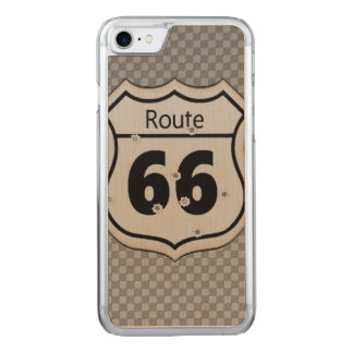 Vintage Route 66 Carved iPhone 8/7 Case