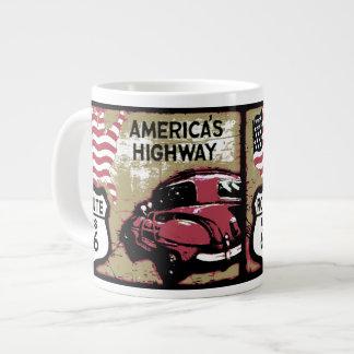 Vintage Route US 66 Large Coffee Mug