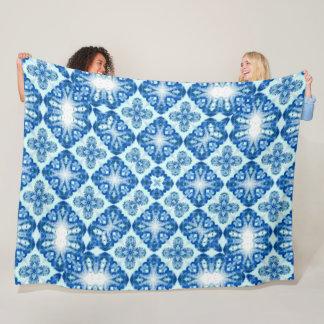 Vintage Royal Jellyfish Dance Pattern Fleece Blanket