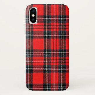 Vintage royal tartan iPhone x case