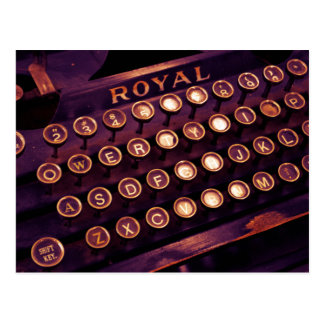 Vintage Royal Typewriter Postcard