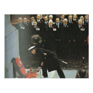 Vintage Royalty, Charles laying a wreath Postcard