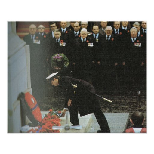 Vintage Royalty, Prince Charles, Remembrance Day Print
