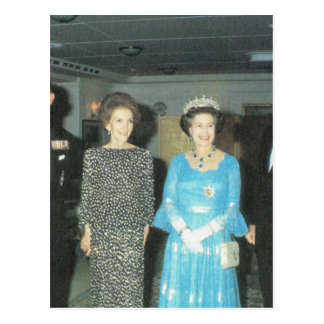 Vintage Royalty, Queen and Nancy Reagan Postcard