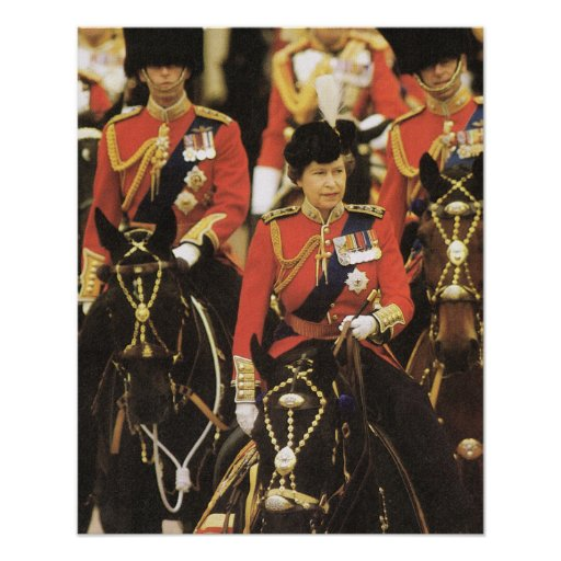 Vintage Royalty, Queen,Trooping of the Colour Poster