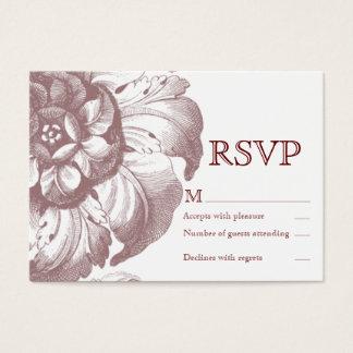 Vintage RSVP Card
