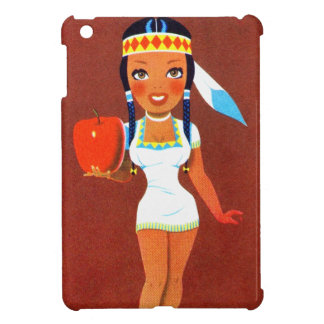 Vintage Rtrro Kitsch Apple Pin Up Indian Princess iPad Mini Case