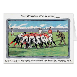 Vintage Rugby Christmas Card