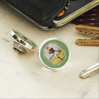 Vintage Rugby Lapel Pin, Silver Plated Lapel Pin