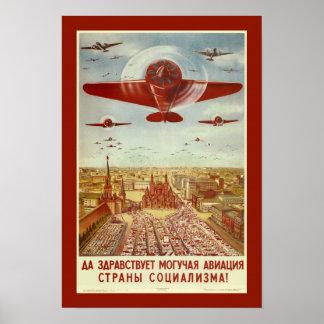 Vintage Russian Aviation Propaganda poster