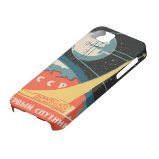 Vintage russian matchbox ads (CCCP rocket launch) Barely There iPhone 5 Case