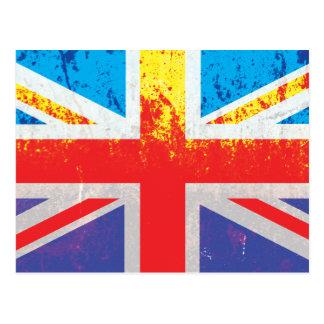 Vintage Rust Texture Union Jack British(UK) Flag Postcards