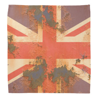 Vintage Rusted United Kingdom Flag Bandana