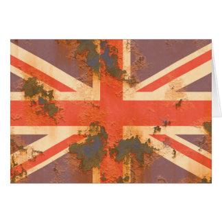 Vintage Rusted United Kingdom Flag Card