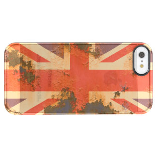 Vintage Rusted United Kingdom Flag Clear iPhone SE/5/5s Case