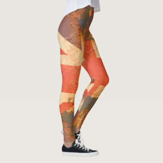 Vintage Rusted United Kingdom Flag Leggings