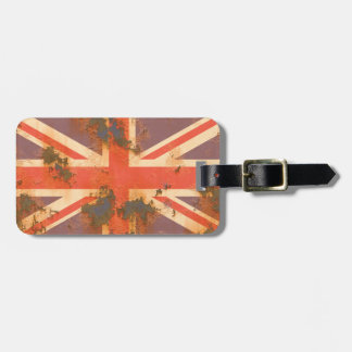 Vintage Rusted United Kingdom Flag Luggage Tag
