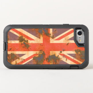 Vintage Rusted United Kingdom Flag OtterBox Defender iPhone 8/7 Case