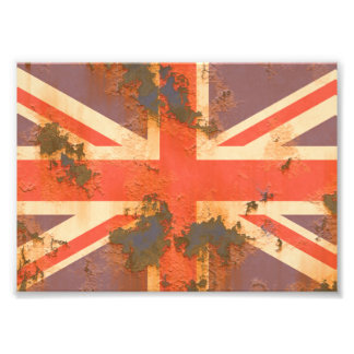 Vintage Rusted United Kingdom Flag Photo Print